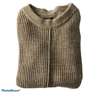 Roots Oatmeal / Beige Crewneck Cotton Knit Sweater